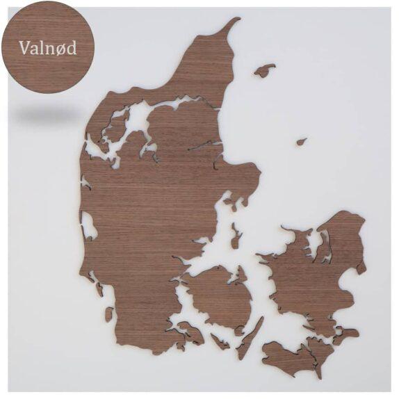 Danmarkskort i træ, Valnød