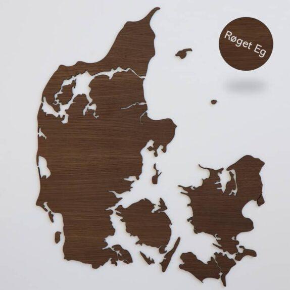Danmarkskort i træ, Røget Eg